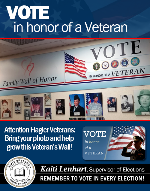 Vote in Honor of A Veteran - Bring Your Photo