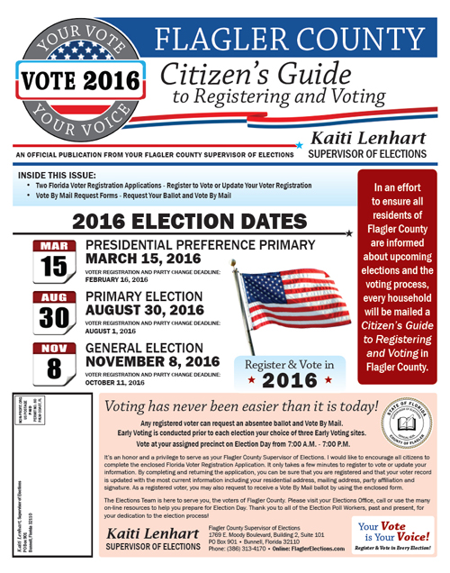 Flagler County Citizens Guide to Registering & Voting