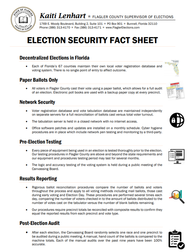 Election Security Fact Sheet Image