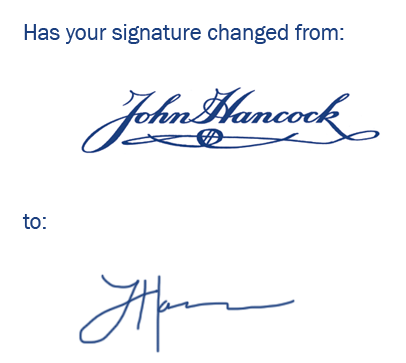 Update Your Signature
