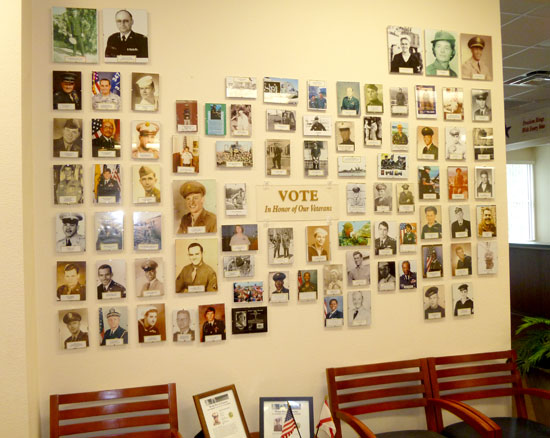 Veterans Display Wall